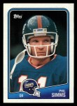 1988 Topps #272  Phil Simms  Front Thumbnail