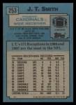 1988 Topps #253  J.T. Smith  Back Thumbnail