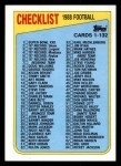 1988 Topps #394   Checklist 1-132 Front Thumbnail
