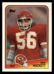 1988 Topps #370  Dino Hackett  Front Thumbnail