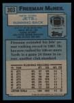 1988 Topps #303  Freeman McNeil  Back Thumbnail