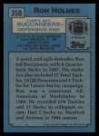 1988 Topps #358  Ron Holmes  Back Thumbnail