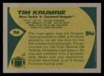 1989 Topps #26  Tim Krumrie  Back Thumbnail