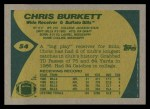 1989 Topps #54  Chris Burkett  Back Thumbnail
