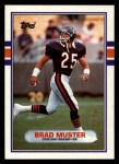 1989 Topps #71  Brad Muster  Front Thumbnail