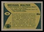 1989 Topps #14  Michael Walter  Back Thumbnail
