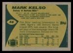 1989 Topps #56  Mark Kelso  Back Thumbnail