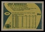 1989 Topps #39  Jim Breech  Back Thumbnail