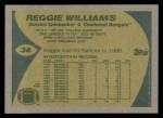 1989 Topps #36  Reggie Williams  Back Thumbnail