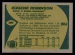 1989 Topps #191  Eugene Robinson  Back Thumbnail