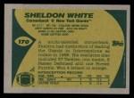 1989 Topps #170  Sheldon White  Back Thumbnail