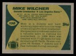 1989 Topps #130  Mike Wilcher  Back Thumbnail