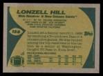 1989 Topps #156  Lonzell Hill  Back Thumbnail