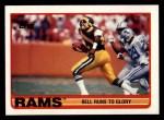1989 Topps #122   -  Greg Bell / Henry Ellard / Johnnie Johnson / Kevin Greene / Carl Ekern Rams Leaders Front Thumbnail