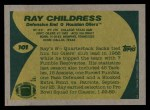 1989 Topps #101  Ray Childress  Back Thumbnail