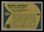 1989 Topps #167  Bart Oates  Back Thumbnail