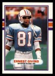1989 Topps #103  Ernest Givins  Front Thumbnail