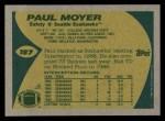 1989 Topps #187  Paul Moyer  Back Thumbnail