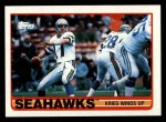 1989 Topps #181   Seahawks Leaders Front Thumbnail
