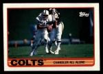 1989 Topps #205   -  Chris Chandler / Eric Dickerson / Bill Brooks / Willie Tullis / Jon Hand / Duane Bickett Colts Leaders Front Thumbnail