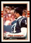 1989 Topps #209  Chris Chandler  Front Thumbnail
