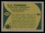 1989 Topps #294  T.J. Turner  Back Thumbnail
