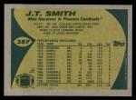 1989 Topps #287  J.T. Smith  Back Thumbnail