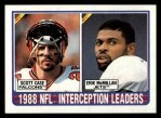 1989 Topps #221   -  Scott Case / Erik McMillan Interception Leaders Front Thumbnail