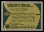 1989 Topps #313  Anthony Miller  Back Thumbnail