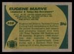 1989 Topps #335  Eugene Marve  Back Thumbnail