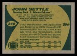1989 Topps #346  John Settle  Back Thumbnail