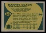 1989 Topps #386  Darryl Clack  Back Thumbnail