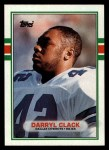 1989 Topps #386  Darryl Clack  Front Thumbnail