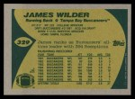 1989 Topps #329  James Wilder  Back Thumbnail