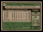 1979 Topps #387  Gary Thomasson  Back Thumbnail