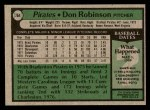 1979 Topps #264  Don Robinson  Back Thumbnail