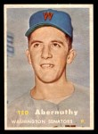 1957 Topps #293  Ted Abernathy  Front Thumbnail
