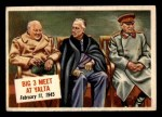 1954 Topps Scoop #59 xCOA  Big 3 Meet At Yalta  Front Thumbnail