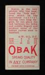 1911 T212 Obak RED Hall  Back Thumbnail