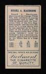 1911 T205  Lena Blackburne  Back Thumbnail