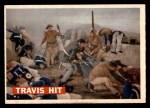 1956 Topps Davy Crockett #75   Travis Hit  Front Thumbnail