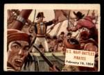 1954 Topps Scoop #92   U.S. Navy Battles Pirates Front Thumbnail