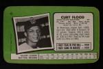 1971 Topps Super #41  Curt Flood  Back Thumbnail
