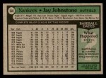 1979 Topps #558  Jay Johnstone  Back Thumbnail
