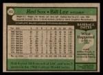 1979 Topps #455  Bill Lee  Back Thumbnail