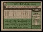 1979 Topps #343  Ed Glynn  Back Thumbnail