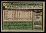 1979 Topps #273  Jerry Terrell  Back Thumbnail