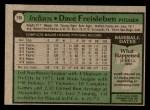 1979 Topps #168  Dave Freisleben  Back Thumbnail