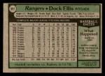 1979 Topps #691  Dock Ellis  Back Thumbnail