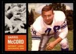 1962 Topps #57  Darris McCord  Front Thumbnail